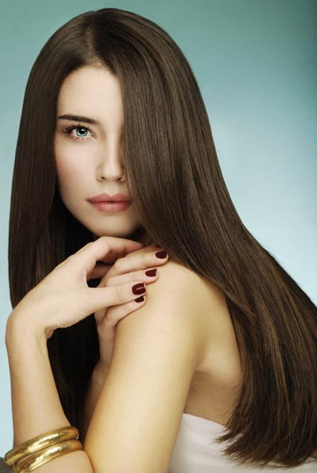 Braune Lange Haare
