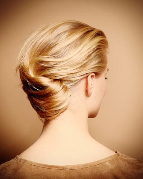einfache hochsteckfrisur lange haare