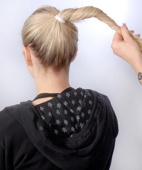 Haargummi wickeln middot anleitung frisur knoten dutt hochsteckfrisur