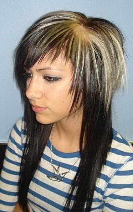 Frisuren eine seite kurz eine lang