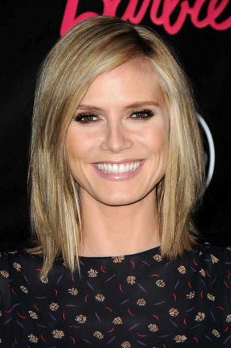 heidi klum frisuren f r schulterlanges haar pictures to pin on pinterest. Black Bedroom Furniture Sets. Home Design Ideas