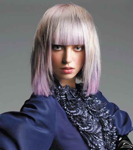 frisur lange graue haare
