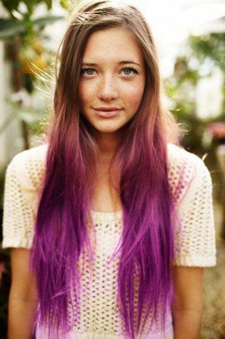 Ombre lange haare rosa spitzen haarfarben trend 2014