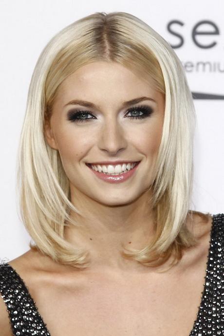 Blonde schulterlange haare frisuren
