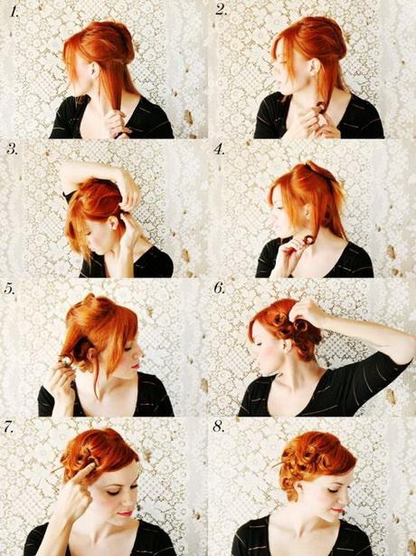 Einfache Rockabilly Frisur