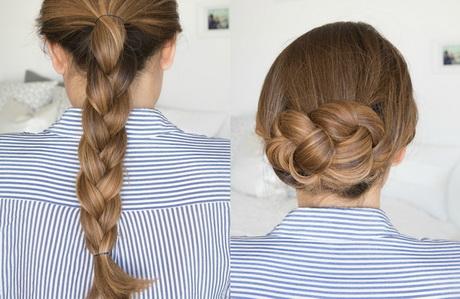 Lange haare zopf
