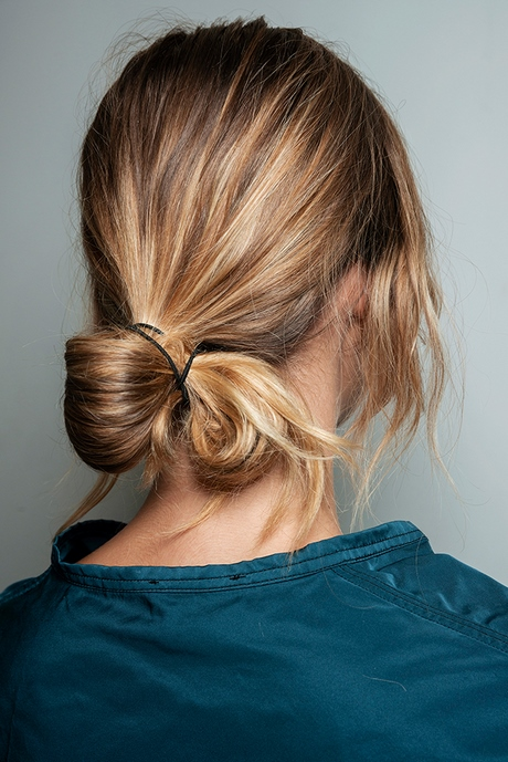 messy dutt kurze haare