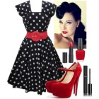 Rockabilly look frau