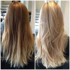 Stufenschnitt blond